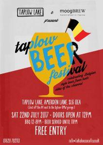 flyer for Taplow Beer Festival